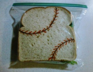 baseball sandwich bag