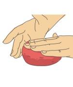 flatten meat hands