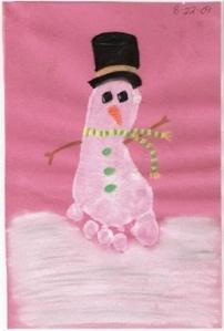 snowman footpritn
