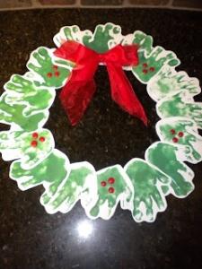 wreath hand print